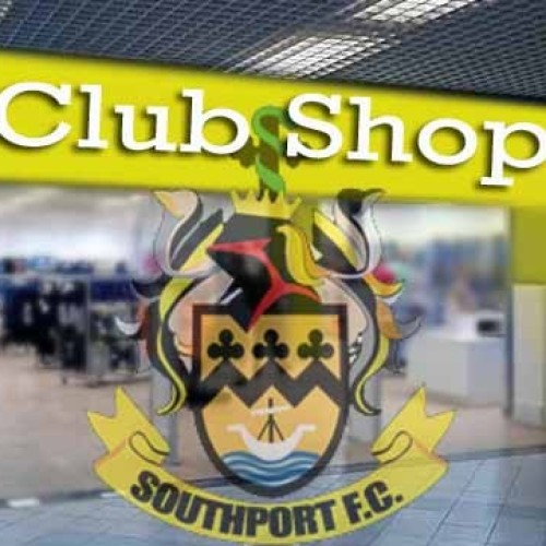 Club Shop Open Monday 5th June 5.30 to 7.30pm