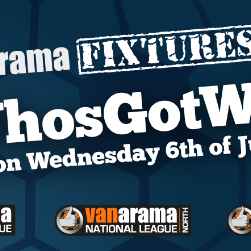 Fixtures Out 1pm Wednesday July 6th