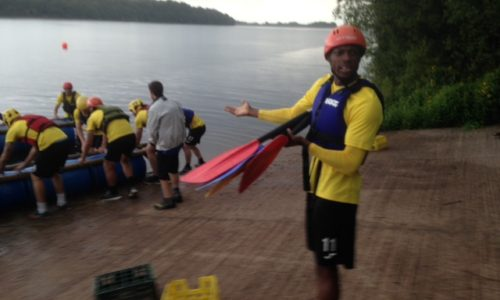 Port Players At Anderton Centre In Rivington For Raft Building And Team Bonding