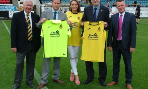 Miss Southport Chloe Brown With Shirt Sponsors County Insurance