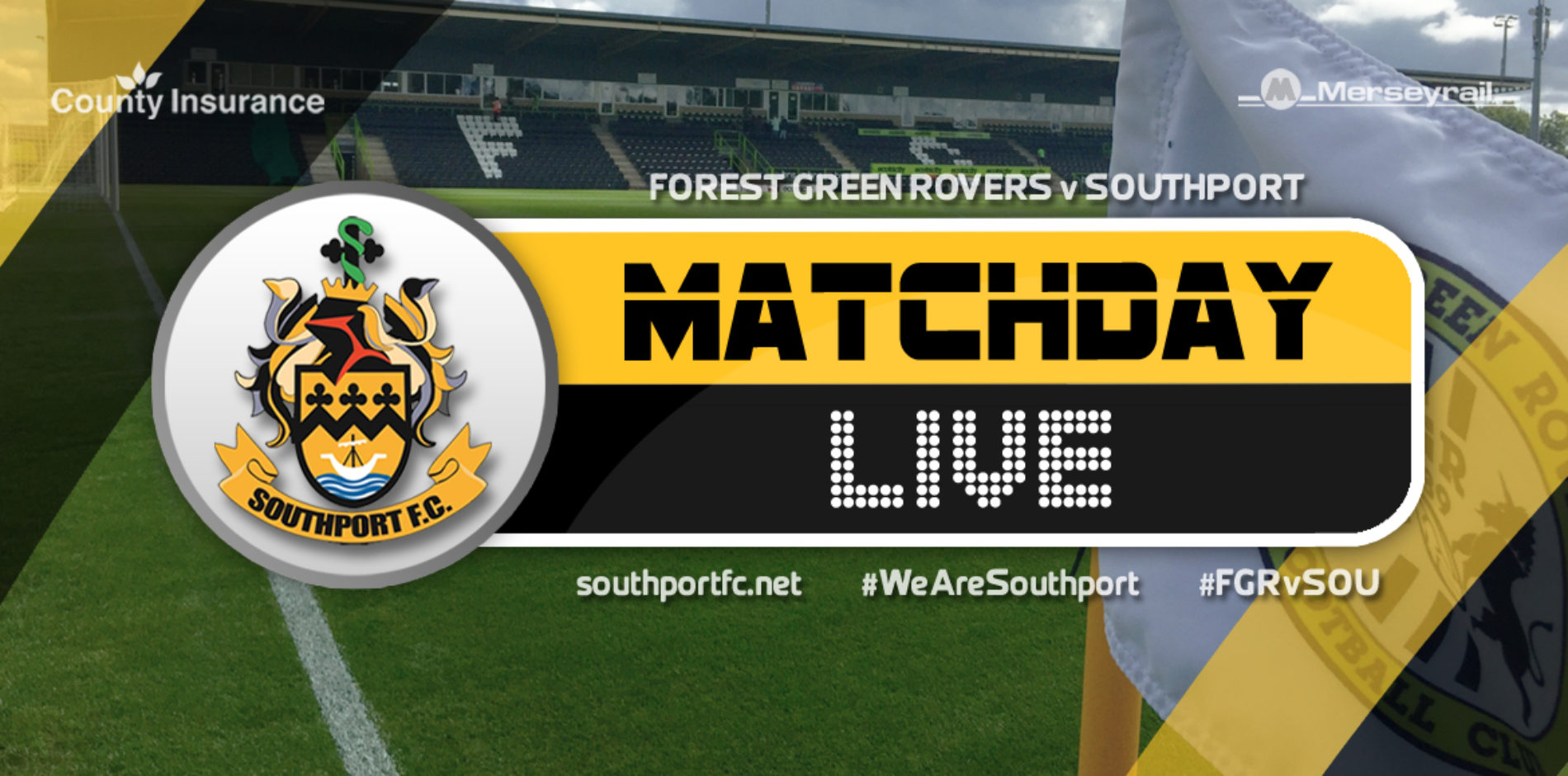 MATCHDAY LIVE | Forest Green Rovers V Southport