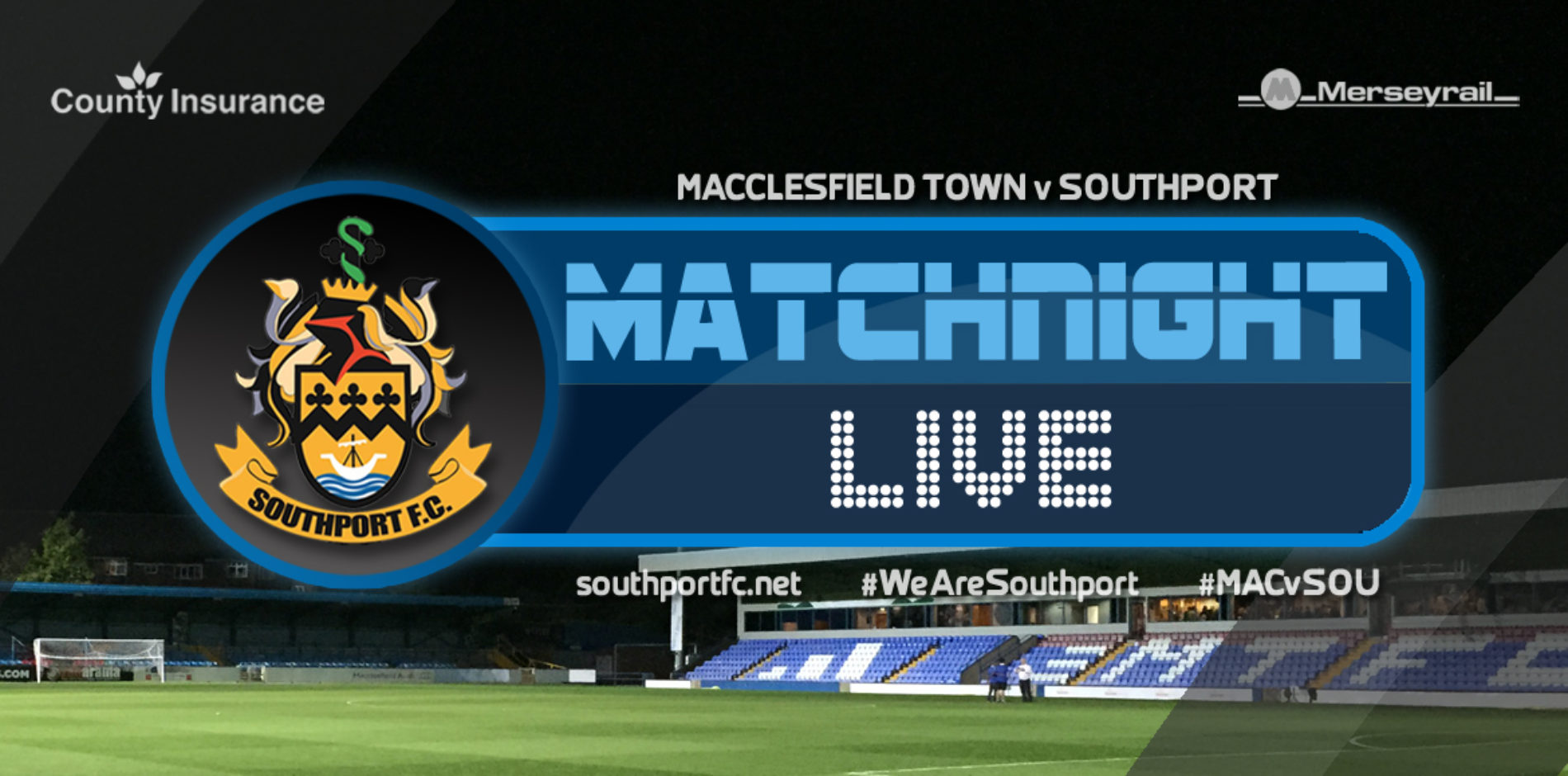 MATCHDAY LIVE   Macclesfield Town 3 – 1 Southport