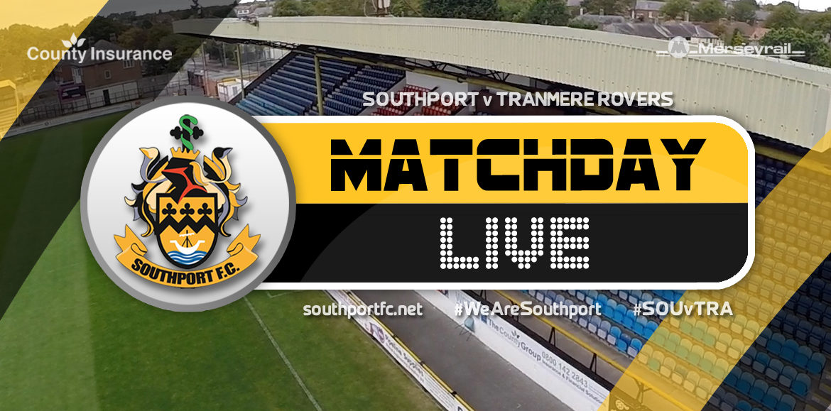 MATCHDAY LIVE | Southport 1 – 1 Tranmere Rovers