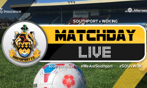 MATCHDAY LIVE | Southport 2 – 1 Woking
