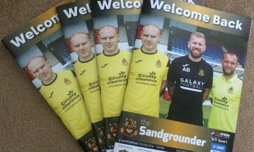 Southport v Gateshead Programme