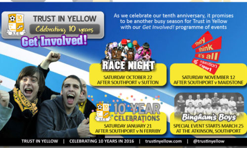 Trust in Yellow Race Night on October 22