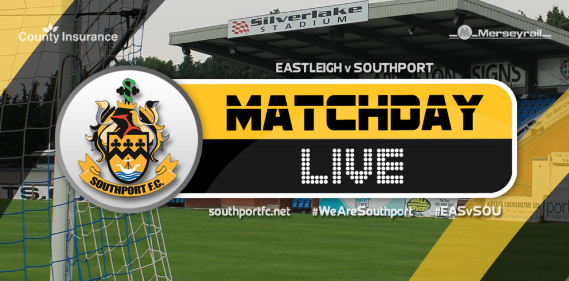 MATCHDAY LIVE | Eastleigh V Southport