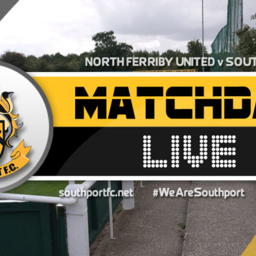 MATCHDAY LIVE | North Ferriby United V Southport