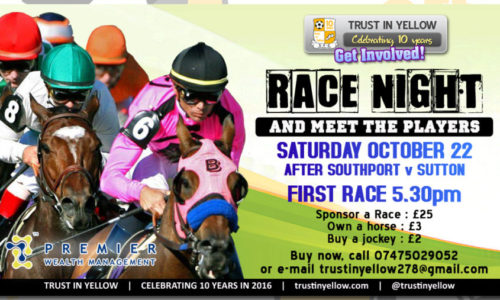 Trust in Yellow Race Night this Saturday