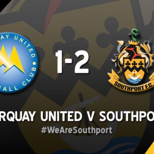 MATCH REPORT | Torquay United 1 – 2 Southport