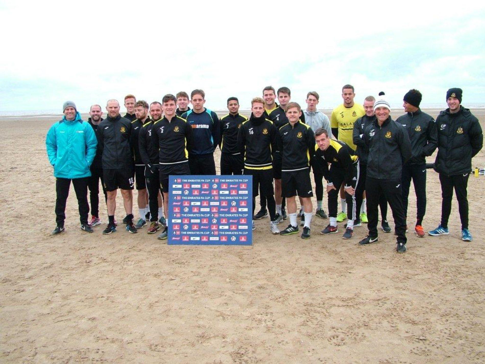 EMIRATES FA CUP | Port Squad Take To The Beach