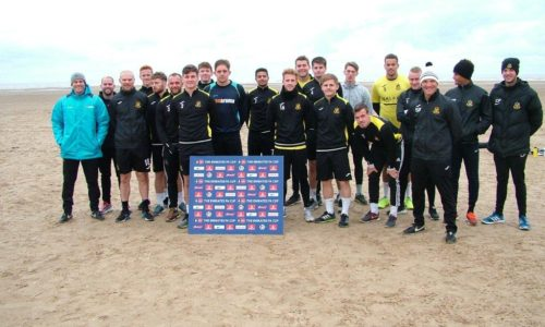EMIRATES FA CUP | Port Squad Take To The Beach