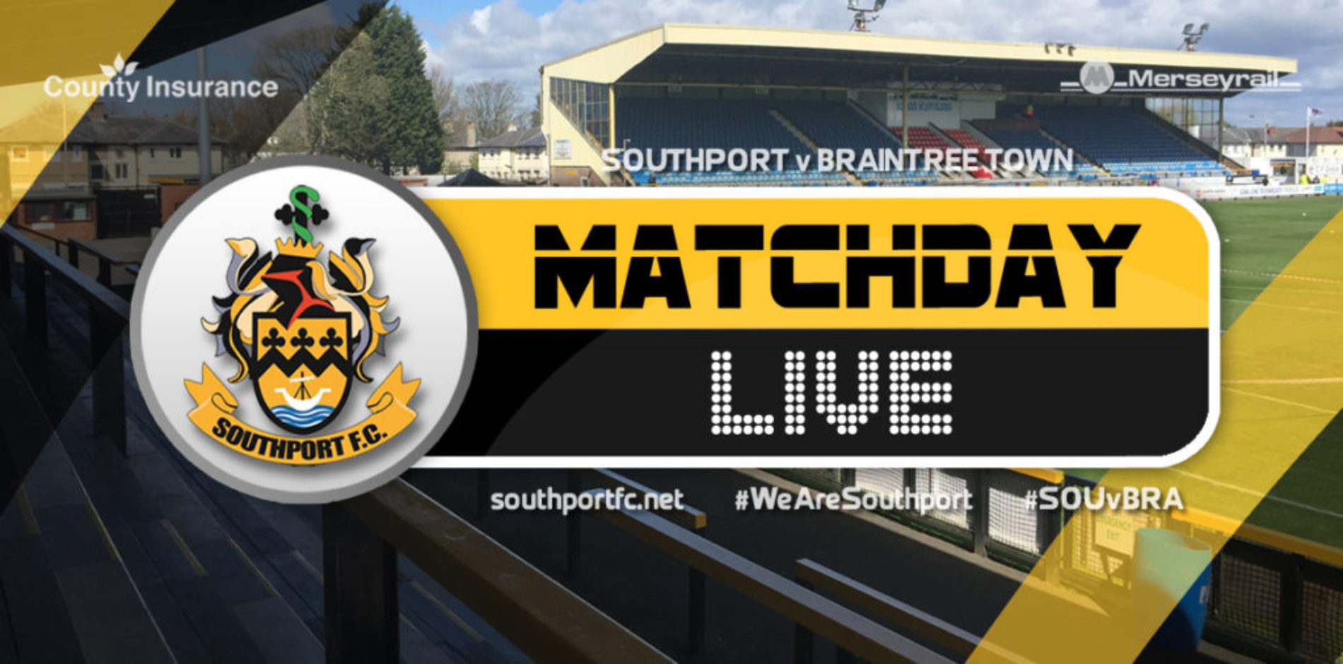 MATCHDAY LIVE | Southport V Braintree Town