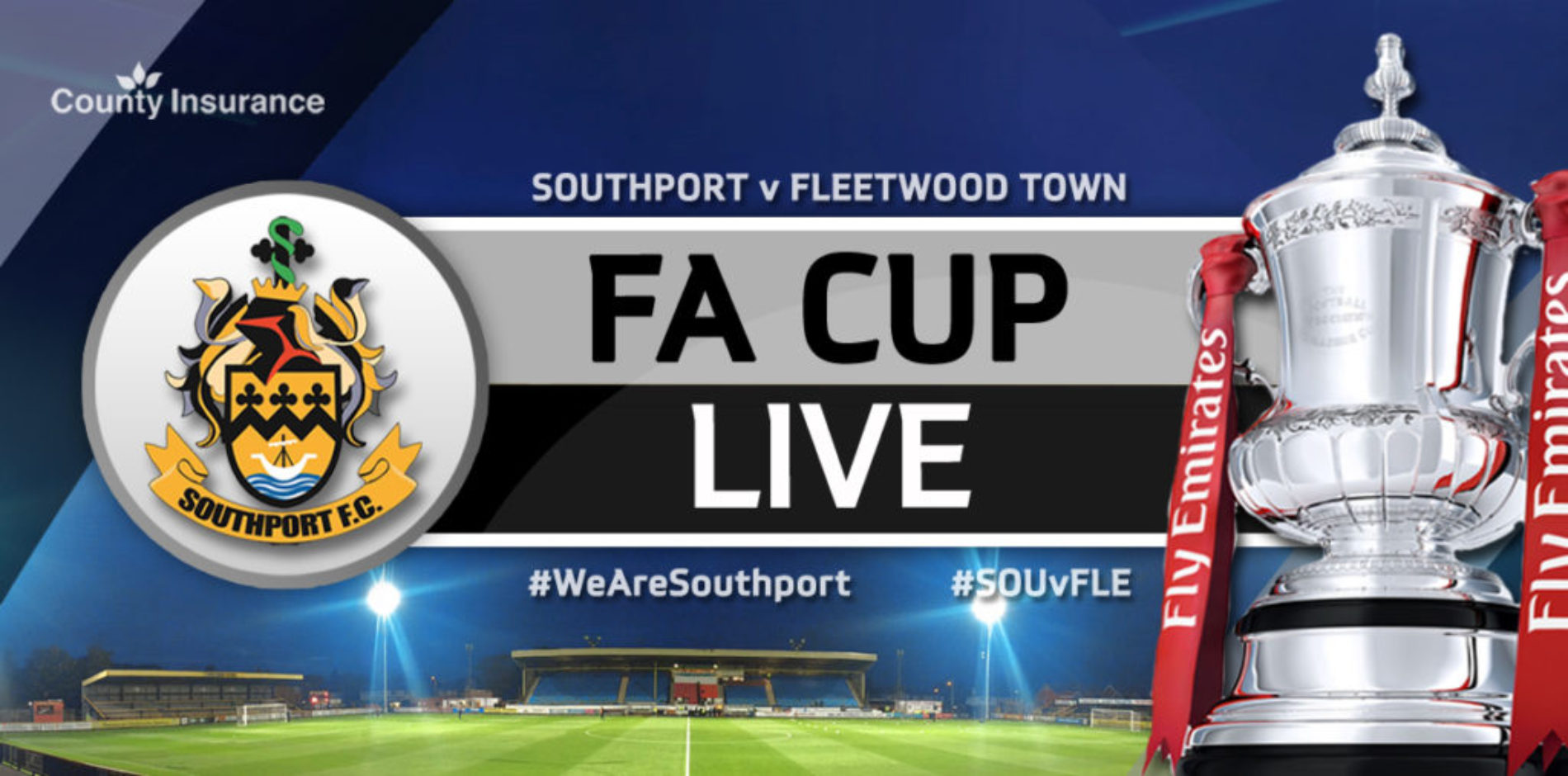 MATCHDAY LIVE   Southport V Fleetwood Town   Emirates FA Cup