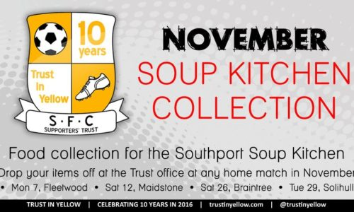 Trust In Yellow November Food Collection Starts Next Week