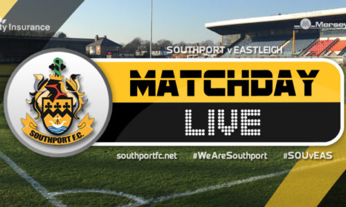 MATCHDAY LIVE | Southport V Eastleigh