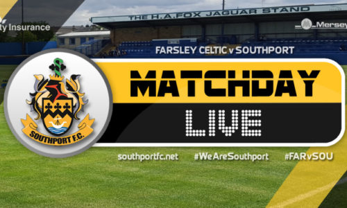 MATCHDAY LIVE   Farsley Celtic V Southport
