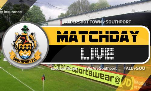 MATCHDAY LIVE | Aldershot Town V Southport
