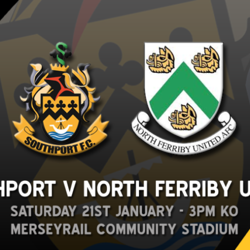 Southport v North Ferriby Saturday January 21st Kick Off 3pm