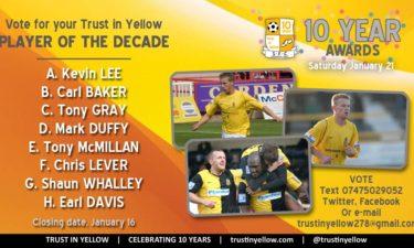 Trust In Yellow Ten-Year Awards