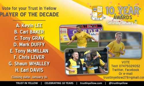 Trust In Yellow Ten-Year Awards