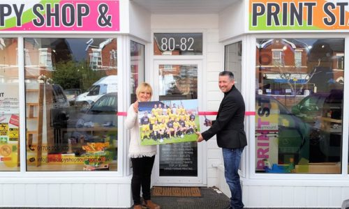 Southport FC's Liam Watson Opens New Copy And Print Shop