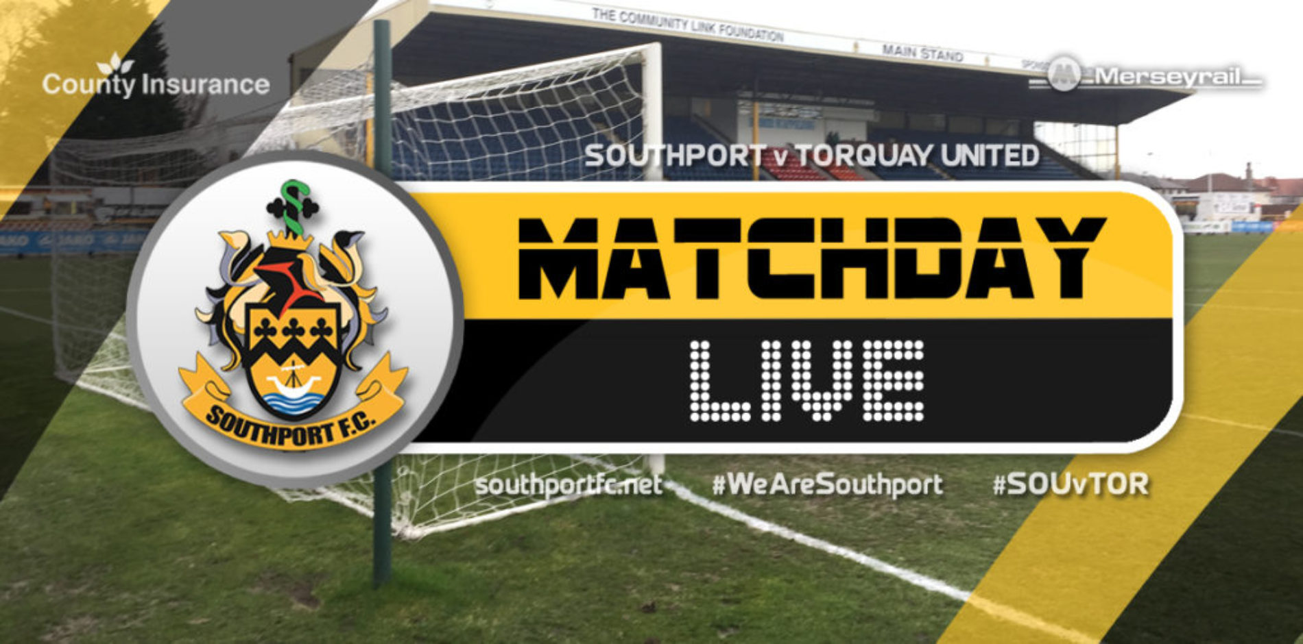 MATCHDAY LIVE | Southport V Torquay United