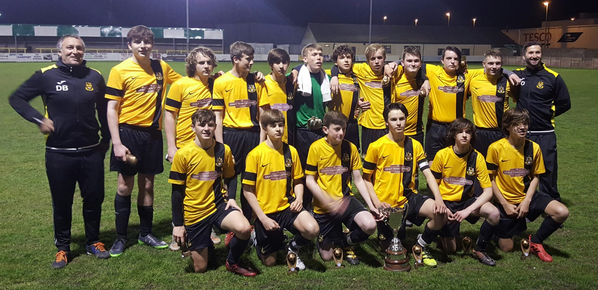 The Under 16s made it two cup final wins in two days for our Youth sides on Wednesday evening.         Tom Lineker and Dan Hudson were both on the scoresheet as the Sandgrounders secured a convincing 2-0 win over Southport & Ainsdale at Victoria Park, Burscough in the Craven Minor League Adam Bell...