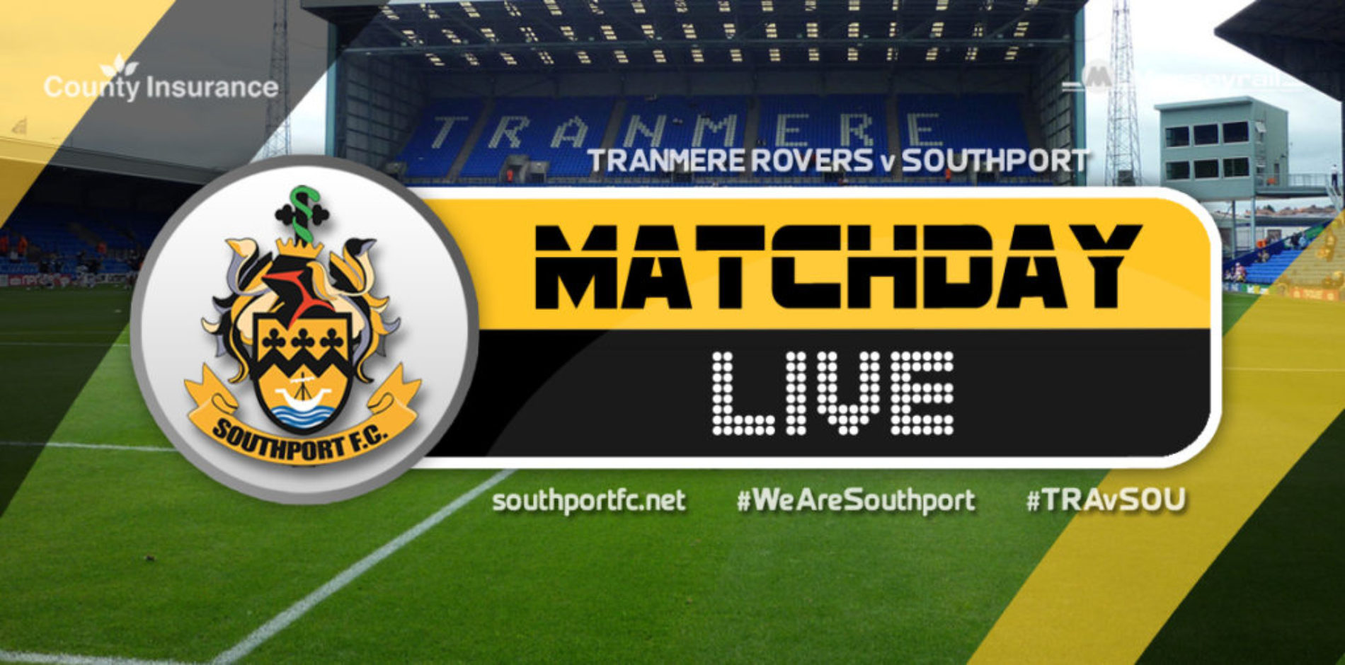 MATCHDAY LIVE | Tranmere Rovers V Southport