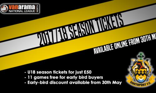Season Ticket Sales & Opening Times Update