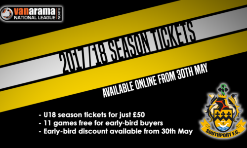 Season Tickets On Sale From 30th May