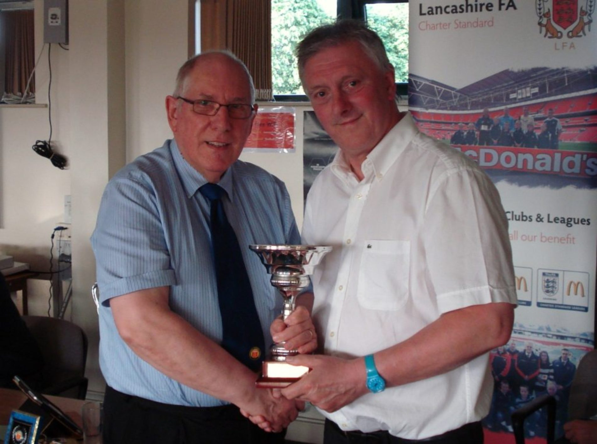 Congratulations to Southport FC's long serving secretary Ken Hilton who has received the prestigious Gary Parkinson Trophy at the Lancashire League AGM for his contributions and long service to the league. Ken has been secretary at Southport for over 20 years.