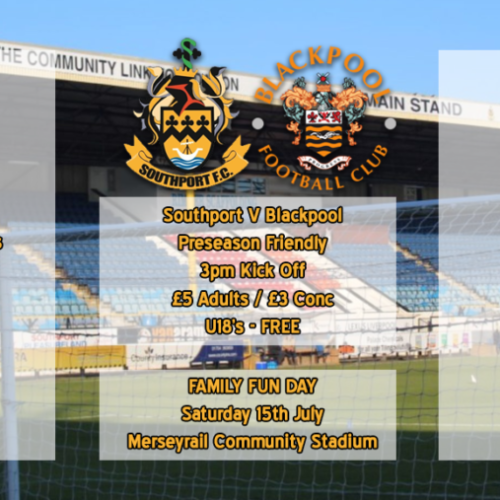 Family Fun Day Ahead Of Blackpool Friendly – 15th July