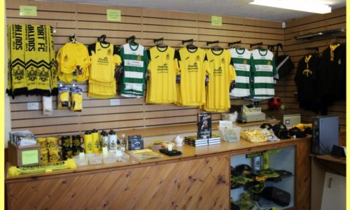 Club Shop Open Saturday 10am to 1pm