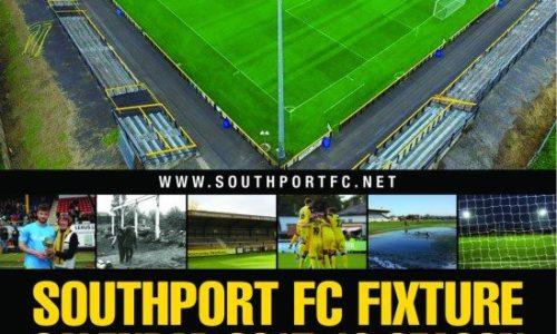 Southport FC Fixture Calendar 2017/18 Just £5