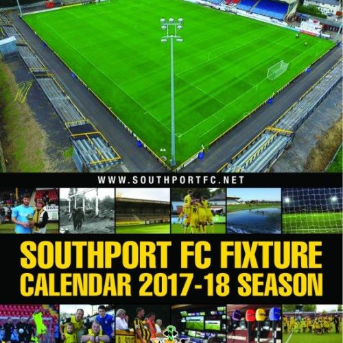 Southport FC Fixture Calendar 2017/18 Just £5