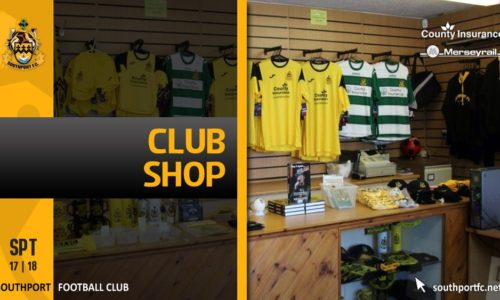 Refurbished Club Shop Opens Monday 10am With Extended Times All Week