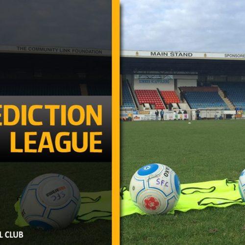 Prediction League Entry Deadline