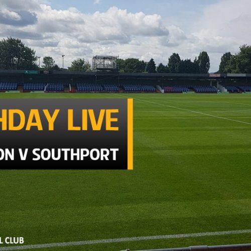 MATCHDAY LIVE | Alfreton V Southport