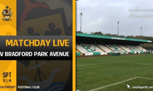 MATCHDAY LIVE | Bradford Park Avenue V Southport