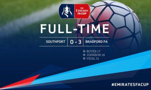 MATCH REPORT | Southport 0 – 3 Bradford Park Avenue – Emirates FA Cup