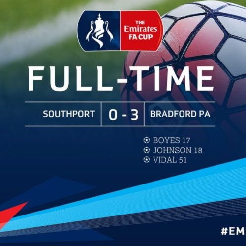 MATCH REPORT   Southport 0 – 3 Bradford Park Avenue – Emirates FA Cup