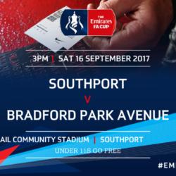 Port Welcome Bradford Park Avenue In Emirates FA Cup This Saturday