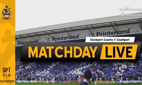 MATCHDAY LIVE | Stockport County V Southport