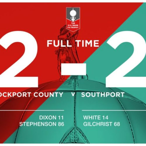 MATCH REPORT | Stockport County 2 – 2 Southport – Buildbase FA Trophy