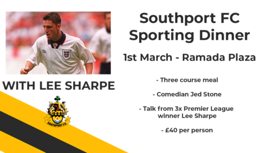 Sporting Dinner With Lee Sharpe – 1st March Ramada Plaza