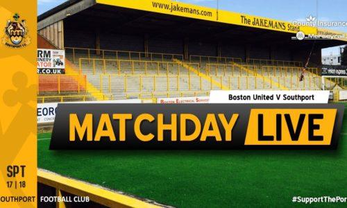 MATCHDAY LIVE | Boston United V Southport