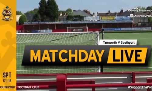MATCHDAY LIVE | Tamworth V Southport
