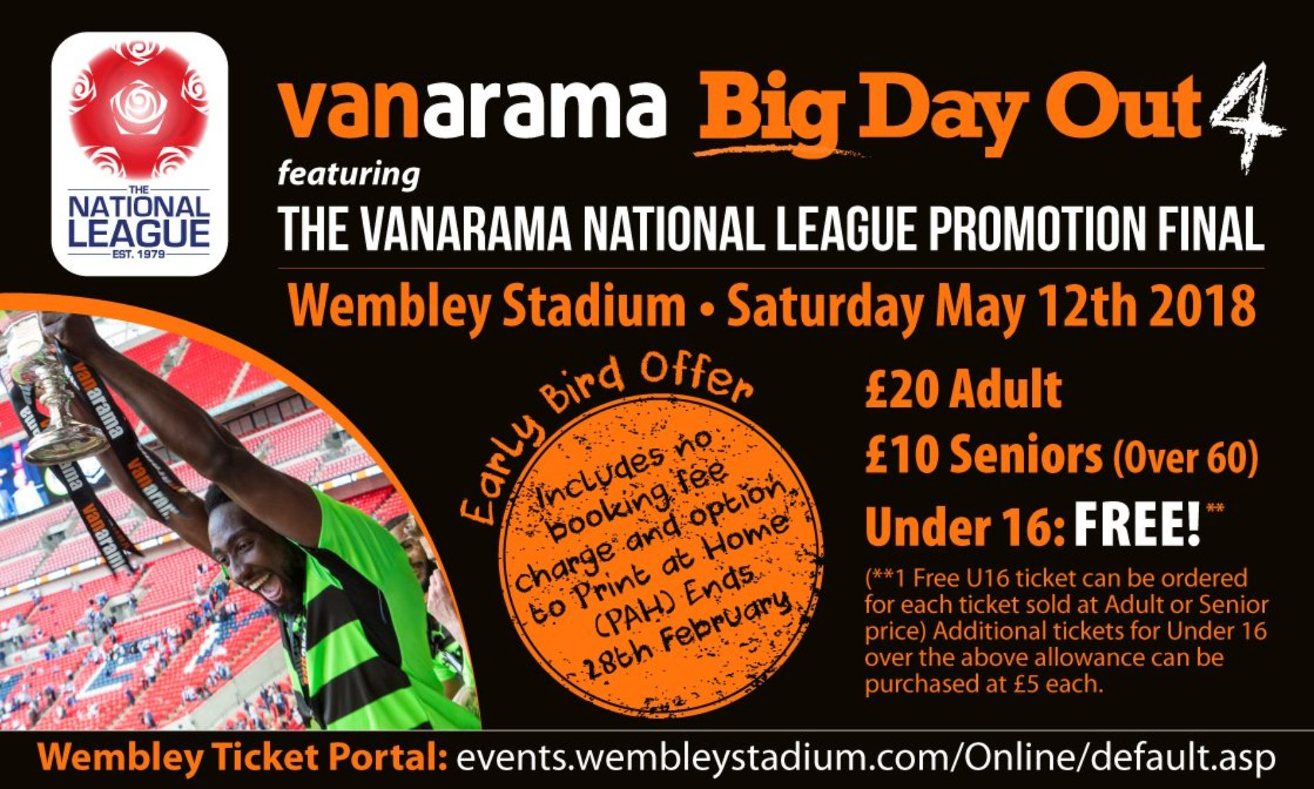 Early Bird Details For National League Promotion Final