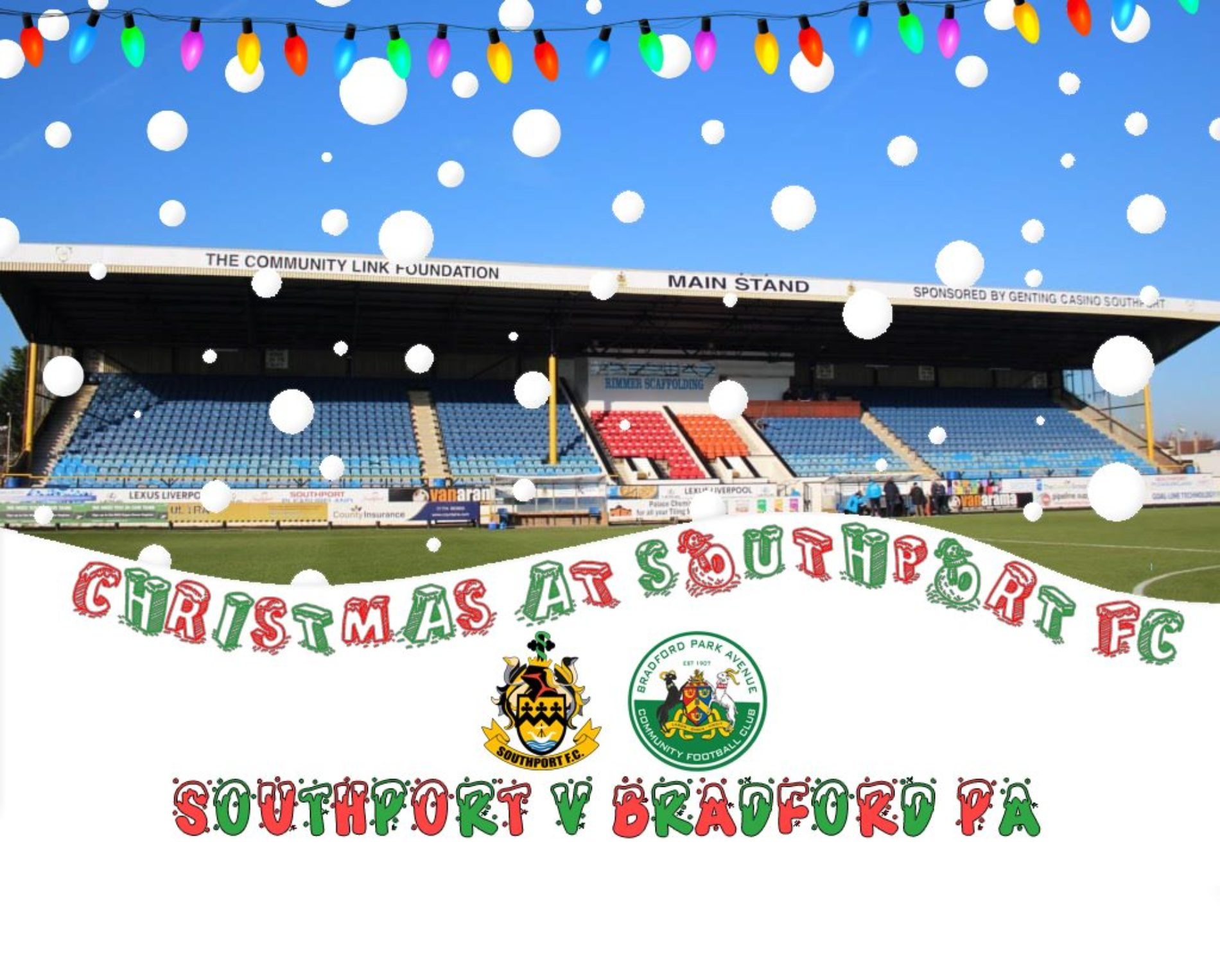 Celebrate Christmas In Style This Weekend At Southport FC